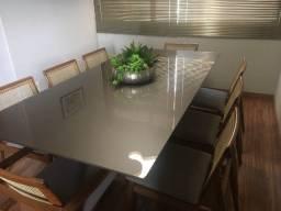 Mesa de Jantar bronze de 8 lugares - Tom sobre tom