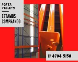 Título do anúncio: Estamos comprando Estruturas Porta Pallet, Pallets