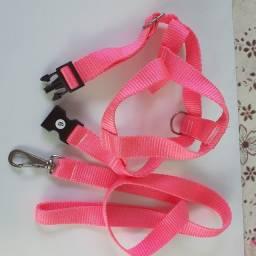 Coleira de pet rosa pink