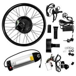 Kit Elétrico Bicicleta 350w Aro 20 Bateria Lítio 36v Garrafa Pliage Plus Two Dogs<br><br>
