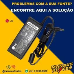Fonte Carregador Notebook LG 19V3.42A Ponta Padrão Whatsapp na Descrição