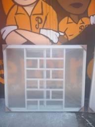 Janelas aço branco diversos modelos e tamanhos completo com vidro