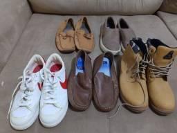 Lote de pares de sapato tamanho 43/44 tudo por 180 R$