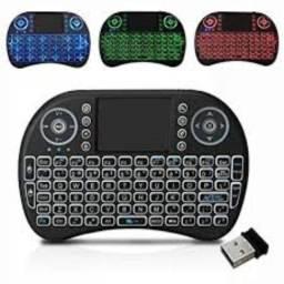 Mini Teclado Keyboard Sem Fio Wireless Iluminado C/ Led + Nf