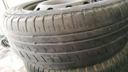 Roda aro 15 com pneu- furação Fiat