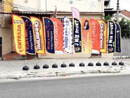 Wind banner biruta flag R$199 completo + arte grátis