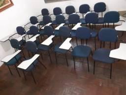Cadeiras universitárias/escolares com prancheta (20 unidades)