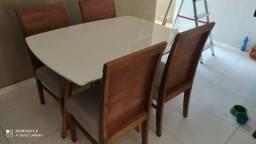 Mesa 4 de madeira maciça pronta entrega