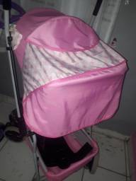 Carrinho tutti baby rosa