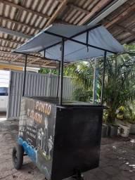 Uma barraca ambulante pronta para trabalhar