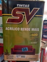 Título do anúncio: Tinta acrílica fosca 18L rende 500m² na Cuiabá tintas.  Imperdível!!!