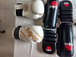 Título do anúncio: Luva de boxe MKS 16 Oz e caneleiras MKS G