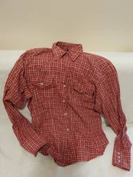 Camisa xadrez vermelha tam P da Ellus