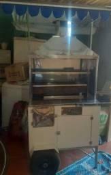 Carrinho de churrasco com geladeira valor 1100 reais