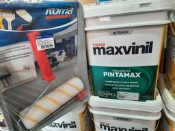 Título do anúncio: Combo ( 1 tinta 18L maxvinil + 1 kit pintura) na Cuiabá tintas    .. imperdível