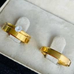 Trio de alianças ,alianças de casamento