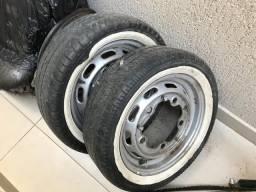 Kit de peças para fusca RAT - 3 rodas, para-choque, calotas, faixas de pneus