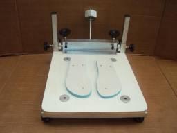 Serigrafia mesa para impressão de sandália completa pronta para uso