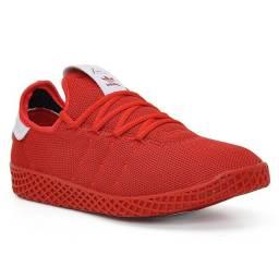 Tênis Adidas Pharel Williams Azul e Vermelho 41