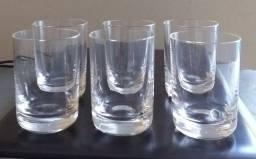 Jogo com 6 copinhos em cristal Oxford