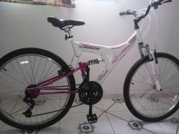 Bicicleta Feminina Adulta Aro 26 Suspensao Track - CASTANHAL