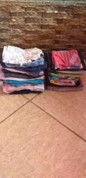 Lote de roupas infantis femininas