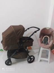 Kit carrinho Moisés e bebê conforto
