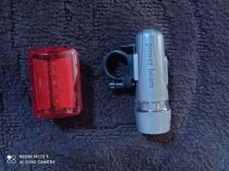 Kit farol e lanterna a pilha para ciclismo