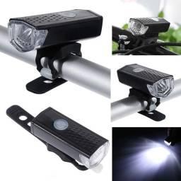 Farol Lanterna Bike Led Recarregável Usb m27sd10sd20