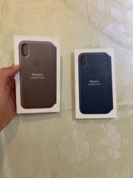 Capinha de couro original iphone xs