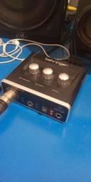 Interface de Audio Microfone Condensador