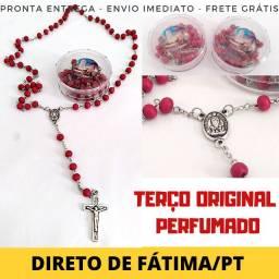Terço Católico Abençoado de Nsa. Fátima - Original -Perfumado e Direto de Portugal