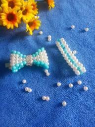 Laços de pérolas - kit com pulseira