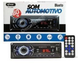 Som Automotivo Mp3 Carro Bluetooth Pendrive Usb Aux Rádio 60wx4