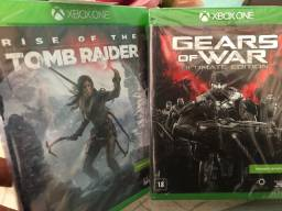 Jogos XboxOne ?Gears of war? e ?Rise of the tomb raider?