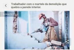 Aluguel de martelo rompedor ou Execução demolições