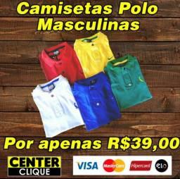 Camisetas Polo masculinas: M, G e GG!