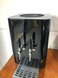 Chopeira elétrica 50 litros hora modelo Black Piano com 2 torneiras