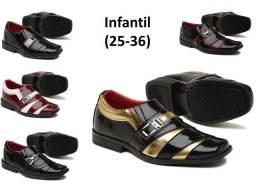 Sapatos social adulto e infantil