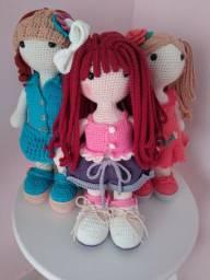 Boneca em amigurumi!!