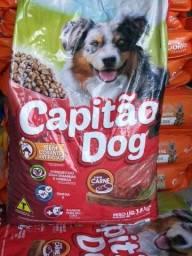 Ração Capitão Dog 14 KG adulto,  55,00 *Sem taxa de entrega em Uberlândia