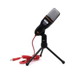 Microfone Profissional Condensador com tripé  cabo p2 1,80cm