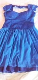 Vestido de festa azul royal, tamanho G