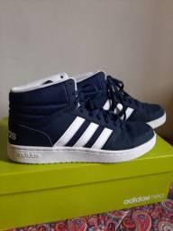 Tênis Adidas Neo Azul Cano Alto Original
