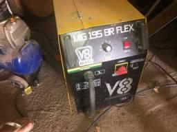 Máquina solda Mig 195 V8 com oxigênio.