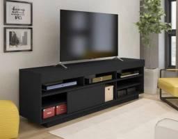 Rack Artely Treviso com Porta deslizante, ideal para TVs até 60 Polegadas;