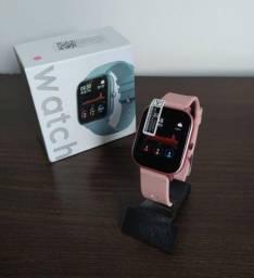 Lindo Relógio Inteligente Smartwatch Colmi P8 - Rosa Pink / Rose Gold / Preto Black