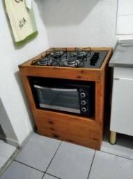 Kit compacto fogão e forno
