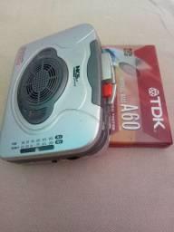 Walkman raridade Am/Fm toca fitas