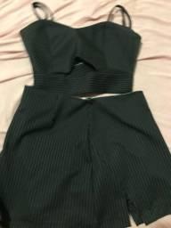 Vendo conjunto short saia!!